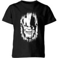 Marvel Avengers Infinity War Thanos Face Kids' T-Shirt - Black - 11-12 Years - Black - War Gifts