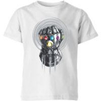 Marvel Avengers Infinity War Thanos Infinite Power Fist Kids' T-Shirt - White - 5-6 Years - White - Avengers Gifts