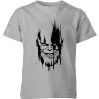 Marvel Avengers Infinity War Thanos Face Kids' T-Shirt - Grey - 7-8 Years - Grey
