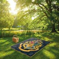 Harry Potter Hogwarts Crest Picnic Blanket - Picnic Gifts