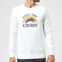 Save The Chubby Unicorns Sweatshirt - White - M - White - Unicorns Gifts