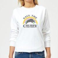 Save The Chubby Unicorns Women's Sweatshirt - White - S - White