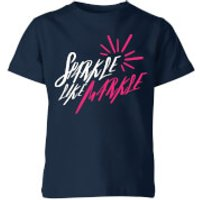 My Little Rascal Sparkle Like Markle Kids' T-Shirt - Navy - 11-12 Years - Navy - Sparkle Gifts