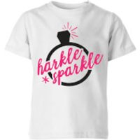 Harkle Sparkle Kids' T-Shirt - White - 11-12 Years - White - Sparkle Gifts