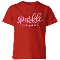 My Little Rascal Sparkle Like Markle Kids' T-Shirt - Red - 11-12 Years - Red - Sparkle Gifts