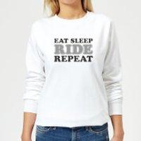 Eat Sleep Ride Repeat Women's Sweatshirt - White - XXL - White - Sleep Gifts