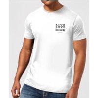 Live Love Ride T-Shirt - White - 5XL - White