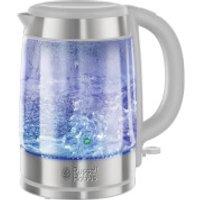 Russell Hobbs 21601-10 Illuminating 1.7L Glass Kettle - White