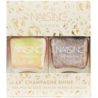Nails Inc. Trend Duo Champagne Shine Nail Polish Duo 2 X 14ml