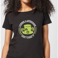 I Kissed A Leprachaun And I Liked It Women's T-Shirt - Black - S - Black