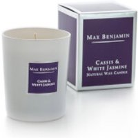 Max Benjamin Cassis and White Jasmine Scented Glass Candle in Gift Box - Candle Gifts
