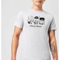 Heavy Metal T-Shirt - Grey - 5XL - Grey - Heavy Metal Gifts