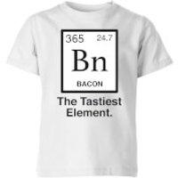 Bacon Element Kids T-Shirt - White - 7-8 Years - White