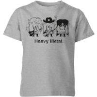 Heavy Metal Kids' T-Shirt - Grey - 11-12 Years - Grey - Heavy Metal Gifts