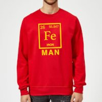 Fe Man Sweatshirt - Red - L - Red - Man Gifts