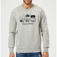 Heavy Metal Sweatshirt - Grey - 5XL - Grey - Heavy Metal Gifts
