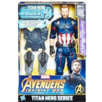 Hasbro Marvel Avengers Infinity War Titan Heroes Power FX Captain America Action Figure - Avengers Gifts
