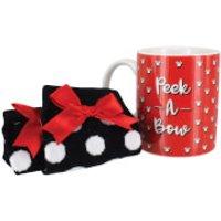 Disney Minnie Mouse Mug and Socks Set - Socks Gifts