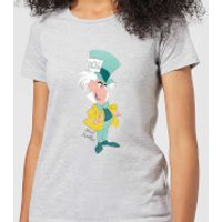 Disney Alice In Wonderland Mad Hatter Classic Women's T-Shirt - Grey - XXL - Grey