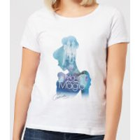 Disney Princess Filled Silhouette Cinderella Women's T-Shirt - White - L - White - Cinderella Gifts