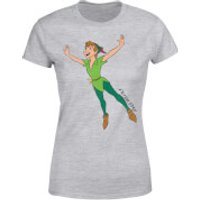Disney Peter Pan Flying Womens T-Shirt - Grey - XL - Grey