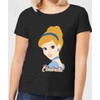 Disney Princess Colour Silhouette Cinderella Women's T-Shirt - Black - XXL - Black - Cinderella Gifts