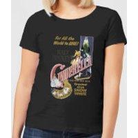 Disney Princess Cinderella Retro Poster Women's T-Shirt - Black - XXL - Black - Cinderella Gifts
