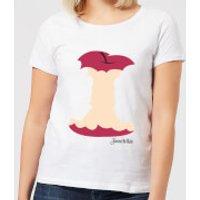 Disney Princess Colour Silhouette Snow White Apple Women's T-Shirt - White - XXL - White - Apple Gifts
