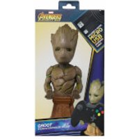 Marvel Guardians Of The Galaxy Collectable Groot 8  Cable Guy Controller & Smartphone Stand - Guardians Of The Galaxy Gifts