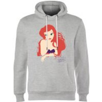 Disney Princess Colour Silhouette Ariel Hoodie - Grey - S - Grey