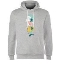 Disney Alice In Wonderland Mad Hatter Classic Hoodie - Grey - XXL - Grey - Alice In Wonderland Gifts