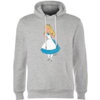 Disney Alice In Wonderland Surprised Alice Hoodie - Grey - XXL - Grey - Alice In Wonderland Gifts