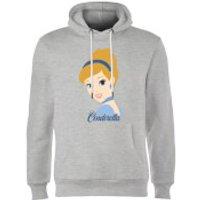 Disney Princess Colour Silhouette Cinderella Hoodie - Grey - XXL - Grey - Disney Princess Gifts