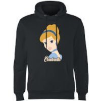 Disney Princess Colour Silhouette Cinderella Hoodie - Black - XXL - Black - Disney Princess Gifts