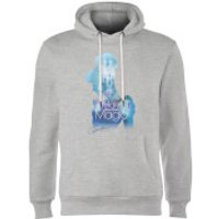 Disney Princess Filled Silhouette Cinderella Hoodie - Grey - M - Grey - Disney Princess Gifts