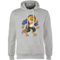 Disney Beauty And The Beast Classic Hoodie - Grey - XXL - Grey - Beauty And The Beast Gifts