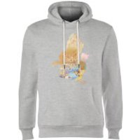 Disney Princess Filled Silhouette Belle Hoodie - Grey - XXL - Grey - Beauty And The Beast Gifts