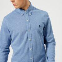 Polo Ralph Lauren Men's Featherweight Long Sleeve Shirt - Blue Heather - L - Blue