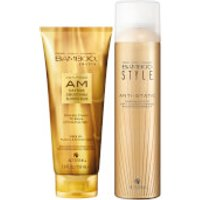 Alterna Bamboo Style Dry Finishing Spray And Am Daytime Smoothing Blowoout Balm Duo (worth £45)