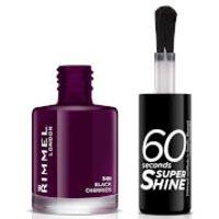 Rimmel 60 Seconds Super Shine Nail Polish 8ml (Various Shades) - Black Cherries