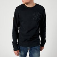 Superdry Mens Applique Crew Neck Sweatshirt - Eclipse Navy - XXL - Navy