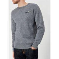 Superdry Mens Orange Label Crew Neck Sweatshirt - Gravel Blue Grit - M - Blue