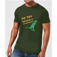 Do You Believe In Dinosaurs? T-Shirt - Forest Green - XL - Forest Green