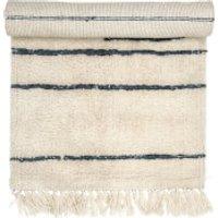 Bloomingville Stripe Wool Rug - Nature - 120cm x 60cm