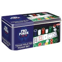 Pro Poker Texas Hold'em Set in Tin - Poker Gifts
