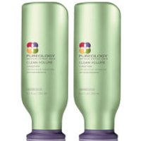 Image of Pureology Clean Volume Colour Care Conditioner Duo 250ml