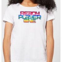 Ready Player One Rainbow Logo Women's T-Shirt - White - XL - White