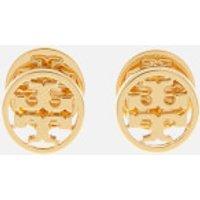 Tory Burch Women's Logo Circle Stud Earrings - Gold