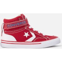 Converse Kids Pro Blaze Strap Hi-Top Trainers - Gym Red/Vintage Khaki/White - UK 13 Kids - Red