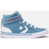 Converse Converse Kids' Pro Blaze Strap Hi-Top Trainers - Aegean Storm/Vintage Khaki - UK 2 Kids - Blue